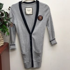 Abercrombie & Fitch Grey Button Up Cardigan